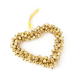 Srdce z rolniček zlaté, 10 cm