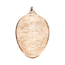 Vajíčko bronzové s vlákny, 8x8x12 cm, sklo