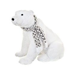 Medvěd Poly s šálou sedící, 59x35x45 cm, látka