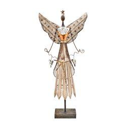 Anděl Tepa s hvězdou, 12x40x91 cm, kov