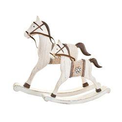 Houpací kůň bílý, 18x16x3 cm, dřevo