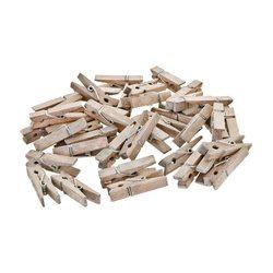 Kolíčky v síťce, 36 ks, 1x1x3,5 / 6x7x12 cm, dřevo