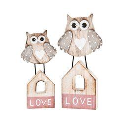 Sovička LOVE malá, 8x2x17 cm, dřevo