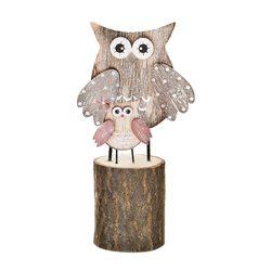 Sovička na špalíku velká, 15x7x25 cm, dřevo