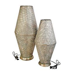 Lampa Orient velká, 37x37x82 cm, kov
