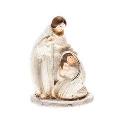 Josef s holí a Marie, 4x3x6 cm, polyresin