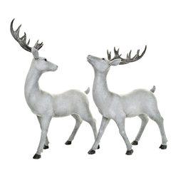 Jelen Sika s otočenou hlavou, 10x22x40 cm, polyres