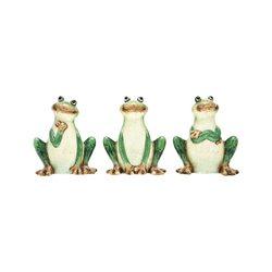 Žába sedící, 3 dr., 13x8x15 cm, keramika