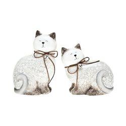 Kočka sedící, 15,5 cm, keramika