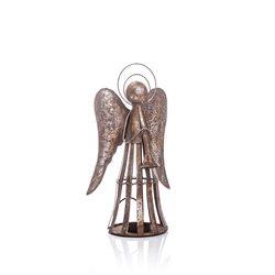 Anděl Patin svícen, 19x12x35 cm, kov