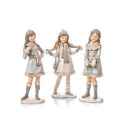 Děti zimy, holčičky stříbrné v kabátku, 3 dr., 11x