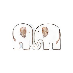 Sloní pár, 18x5x10 cm, polyresin