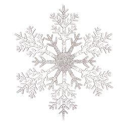 Vánoční ozdoba vločka dělená, 30x30x0,5 cm, plast