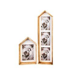 Fotorámeček Domek, 15x5x55 cm, dřevo, sklo