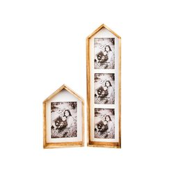 Fotorámeček Domek, 14x3x22 cm, dřevo, sklo