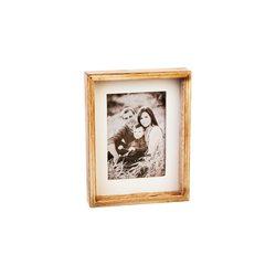 Fotorámeček Domek, 14x3x18 cm, dřevo, sklo