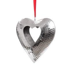 Svícen srdce závěsné, 7x22x22 cm, kov