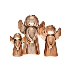 Anděl Topi bronzový, střední, 4x6x9 cm, keramika