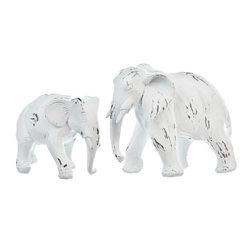 Bílý slon, 4x12x10 cm, polyresin