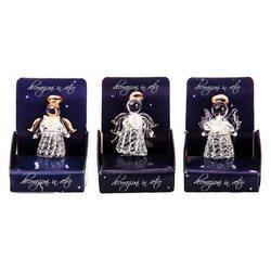 Anděl skleněný v krabičce, 4x4x5 cm, sklo