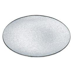Tác stříbrný, 26x26x5 cm, sklo