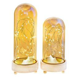 Kopule svítící zlatá na podstavci na 3xAA, 11x11x2