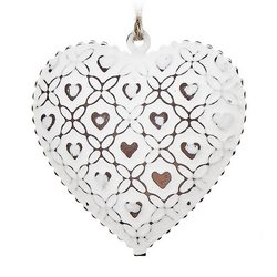 Rolnička Tvaru bílé srdce se srdíčky, set 10 ks, 3