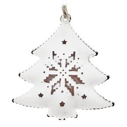 Rolnička Tvaru bílý stromek se vzorem, set 10 ks,