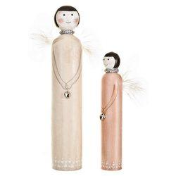 Dřevěný anděl s pírky, 25, dřevo
