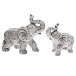 Slon malý šedý troubící, 9x17x16 cm, keramika jako