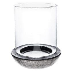 Svícen Válec se sklem, 21x21x25 cm, keramika jako