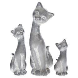 Kočka velká, 10x12x27 cm, keramika jako beton