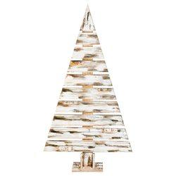 Dřevěný strom zasněžený 128 cm