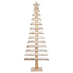 Dřevěný strom s hvězdou 119cm