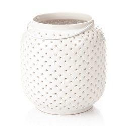 Lucerna Holey, bílá, 13x13x15 cm, keramika