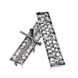 Rolničky v krabičce, 40 ks, stříbrná, 19x4x2 cm, k