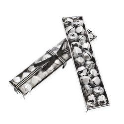 Rolničky v krabičce, 20 ks, stříbrná, 4x19x2 cm, k