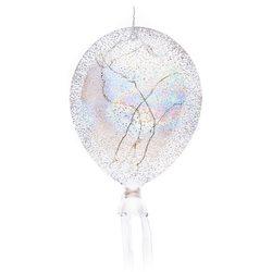 Balon svítící zasněžený s perlovými odlesky