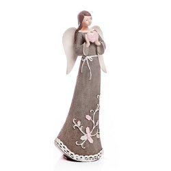Anděl Roselo, malý šedý, 18x7x5 cm, polyresin