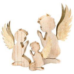 Anděl dřevěný klečící, 12x12x23 cm, dřevo