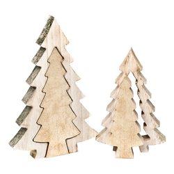 Stromek dřevěný dvojitý 18 cm