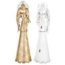 Anděl modlící se s plnou sukní, bílý, 35x10x10 cm,