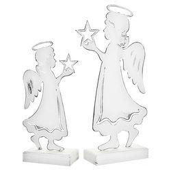 Anděl bílý se svatozáří a hvězdou v ruce, 22x11x5