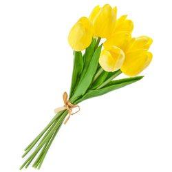 Umělá květina Tulipán žlutá (kytice 8ks tulipánů)