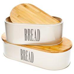 Dóza na chleba L, přírodní, 44x22x12 cm, kov