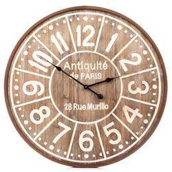 Hodiny kov / dřevo, 6x80x80 cm, dřevo