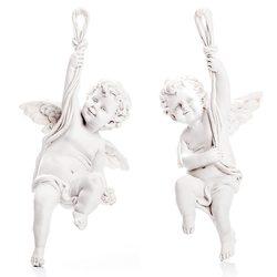 Sádrový anděl s ručičkou nahoru