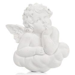 Anděl na mráčku zamyšlený, závěsný 9 cm