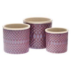 Květináč Bana fialový, 14x14x13 cm, keramika