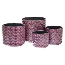 Květináč Klas leskle fialový, 20x20x18 cm, keramik